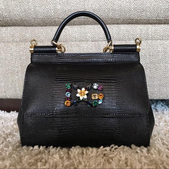 f2ac0fcdf9 Dolce   Gabbana Handbags - Dolce   Gabbana Sicily DG logo Iguana shoulder  bag